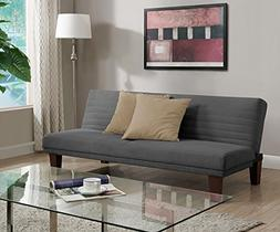 DHP Dillan Convertible Futon with Microfiber Upholstery, Gre