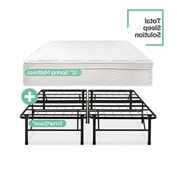 Night Therapy Spring 12 Inch Euro Box Top Mattress and Smart
