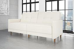 DHP Andora Coil Futon Sofa Bed Couch with Mid Century Modern