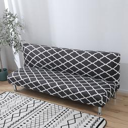 Armless Sofa Bed Full Folding Cover Fitted Elastic Stretch C