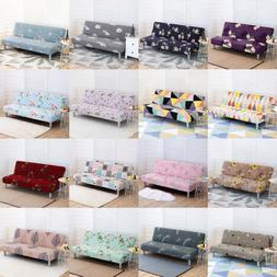 Armless Sofa Bed Futon Slipcover Stretch Full Folding Couch