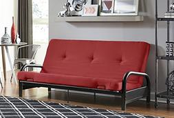 """DHP Black Metal Arm with 6"""" Futon Mattress, Converts from So"""
