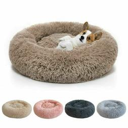 Comfort Plush Pet Dog Cat Bed Fluffy Soft Warm Calming Bed S