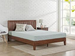Zinus Vivek 12 Inch Deluxe Wood Platform Bed with Headboard