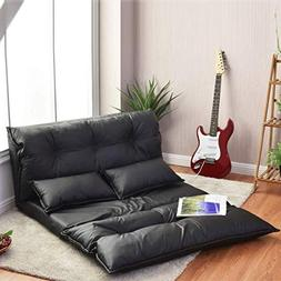 Giantex Floor Sofa PU Leather Leisure Bed Video Gaming Sofa