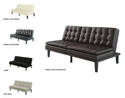 FOAM SOFA BED COUCH Convertible Foldable Futon Leather Pillo