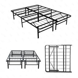 Mecor 14 Inch Foldable Metal Bed Frames Deluxe/Platform Bed/