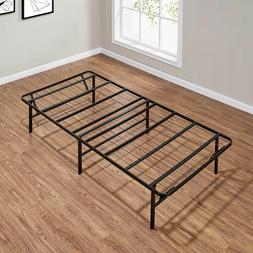 "14"" High Profile Foldable Steel Bed Frame Powder-coated Stee"