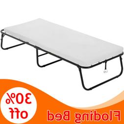 Folding Bed Rollaway Guest Metal Bed With 3 Inch Foam Mattre