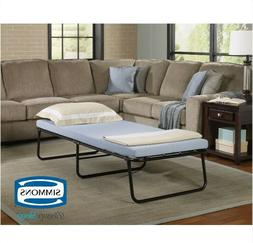 Folding Bed with Memory Foam Mattress Guest Camping Portable