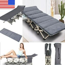 Folding Camping Sleeping Bed Cot Outdoor Portable Military T