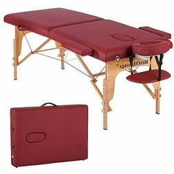 Folding Massage Table Portable Bed Adjustable With Carry Cas