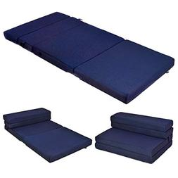 "Giantex 4"" Thick Folding Portable Mattress Pad Sofa Bed with"