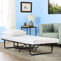 BestMassage Guest Folding Bed Camping Bed Cot 77 Inch Heavy