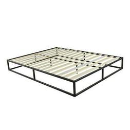 High Quality Simple Basic Iron Bed Queen Size Metal Platform