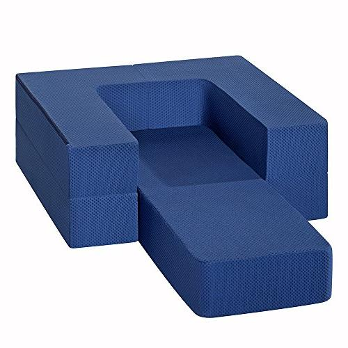 Olee Memory Foam Guest Sofa/Couch, Blue, 08TM02T