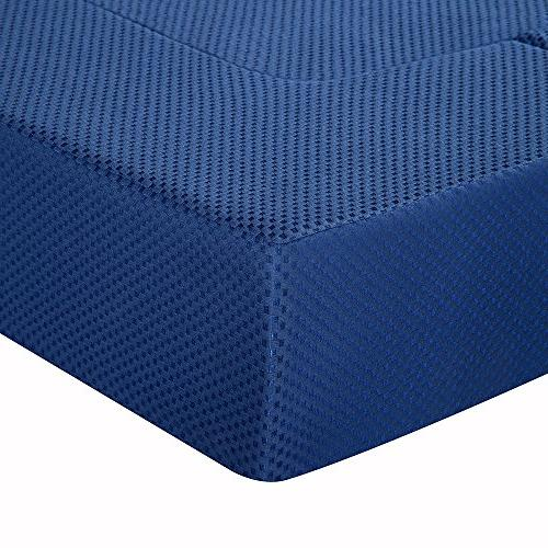 Memory Foam Multi-Functional Guest Bed/Floor Sofa/Couch, Blue,