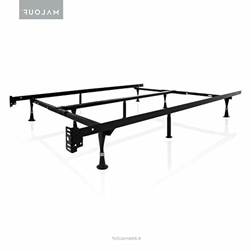 STRUCTURES by Malouf Heavy Duty 9-Leg Adjustable Metal Bed F