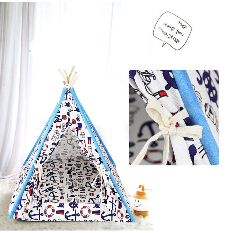 Canopy Teepee Bed for Dog Cat Small Animal All Season