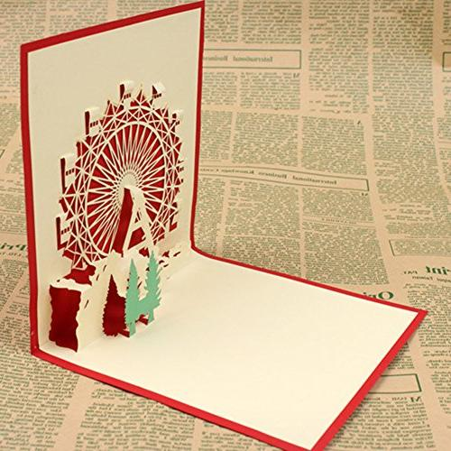 yingyue Creative Wheel Pattern Pop Paper Festivals Party Card