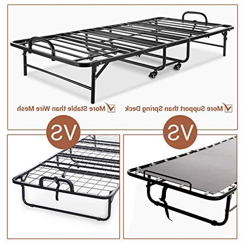 Smile Folding Bed with Mattress, Guest Size Adults, 5 Memory Foam Mattress, for No Required