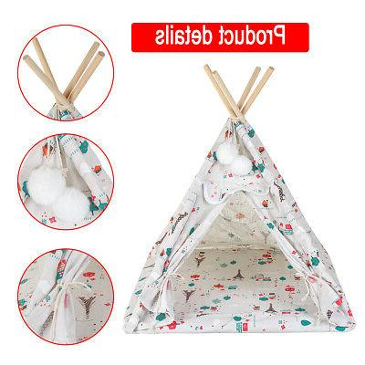 17'' Folding Pet House Tent Puppy Workout Teepee