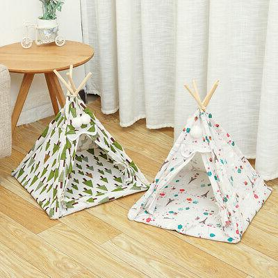 Foldable Dog House Puppy Play Teepee