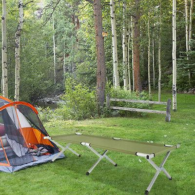 folding cot collapsible camping bed with carrying