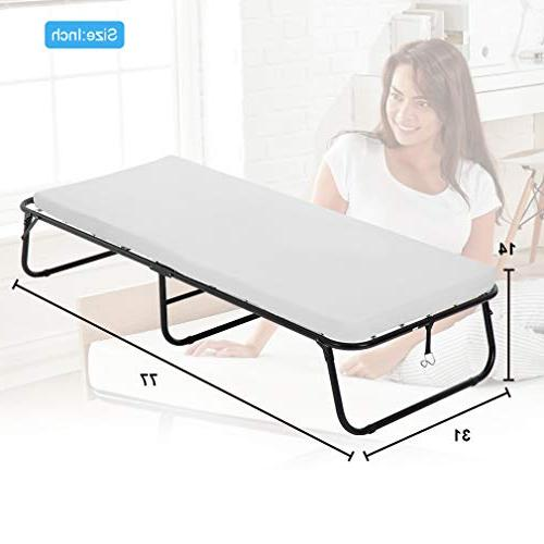 Guest Folding Bed Camping Cot Size Heavy Extra Comfort Foam