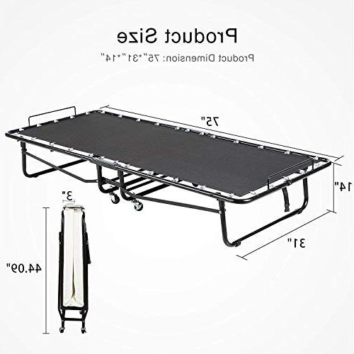 Mecor Folding Mattress, Metal Rollaway Bed for Heavy Duty Frame Hideaway with