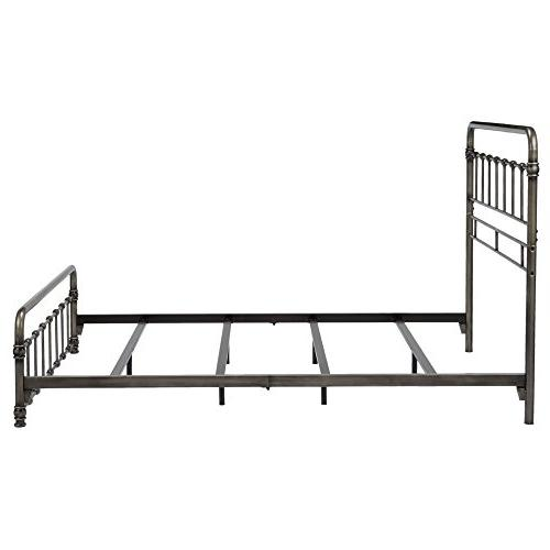 Fashion Bed Fremont Metal Folding Support System and Edge Panels, Weathered King