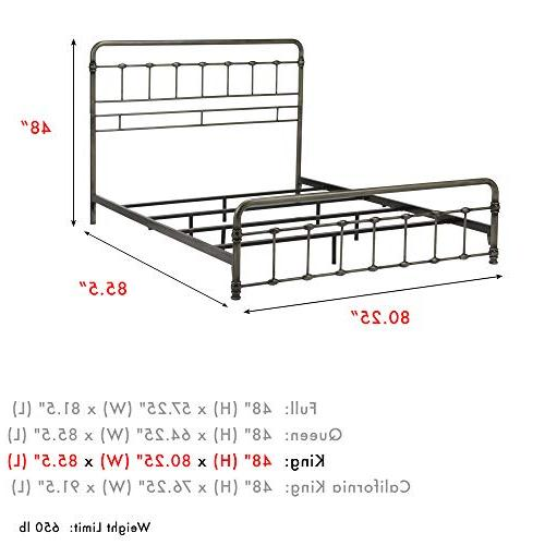 Fashion Group Metal SNAP Bed Folding Frame Bedding System Rounded Panels, King