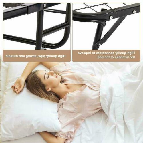 Heavy-duty Portable Guest Bed Rolling Moving Cot Bed