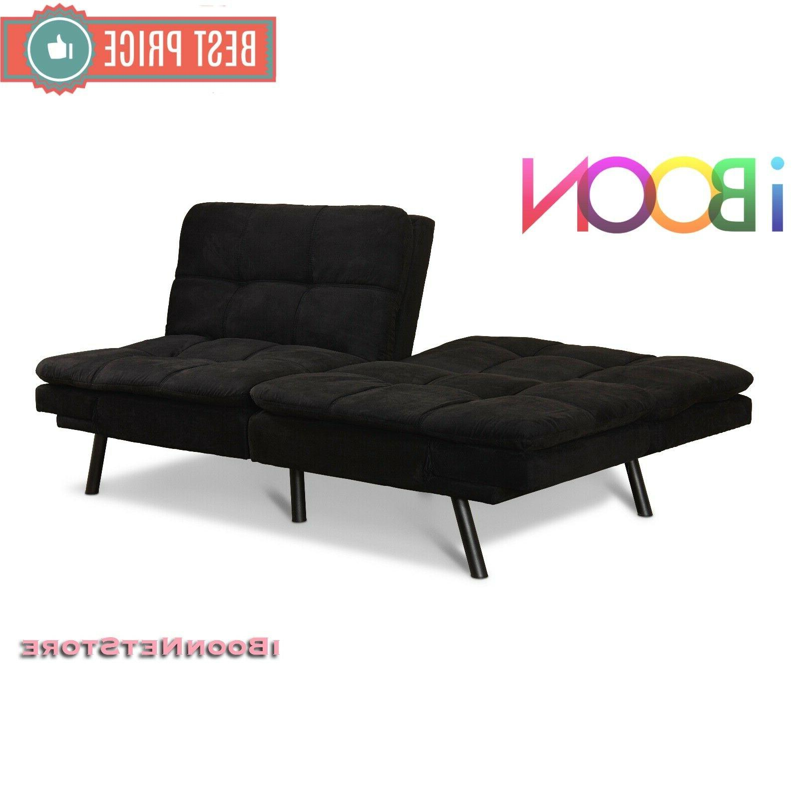 Memory Sofa Couch Foldable Black