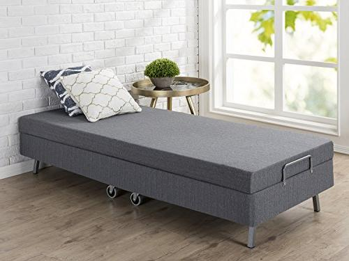 Zinus Memory Folding Guest Bed with Wheels, Narrow Twin, x