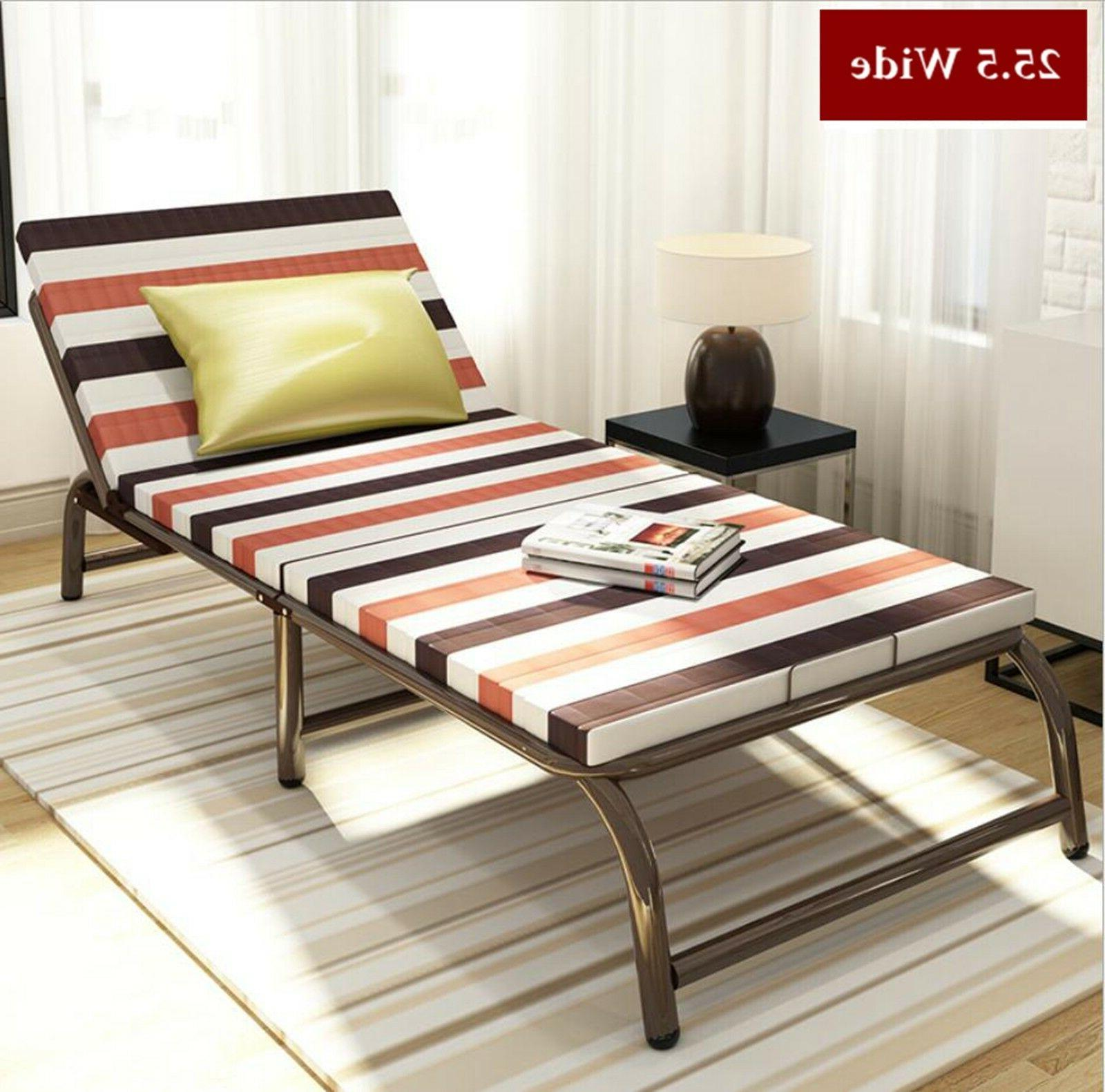 - Portable Folding Bed With Frame Guest Bed Mattress