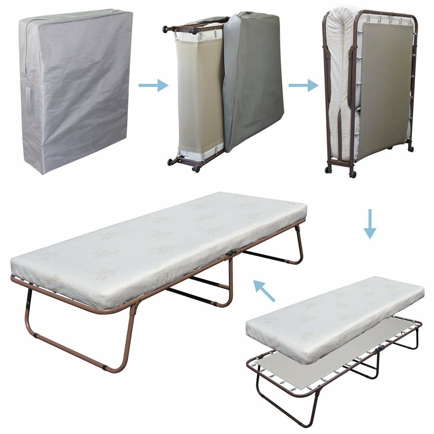 Portable Metal Bed Frame Guest Bed