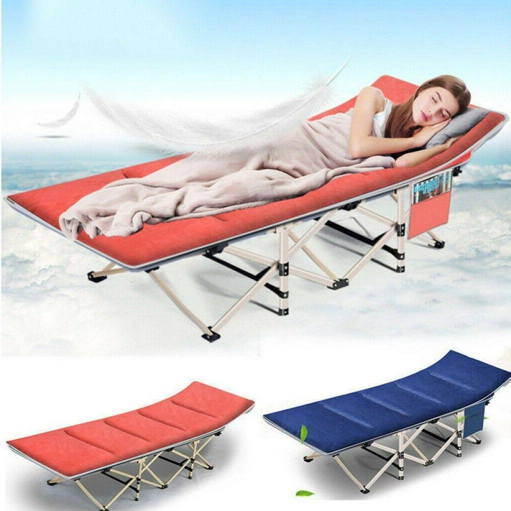 Portable Folding Bed Camping Rollaway Cot w/ Storage Bag &Ma