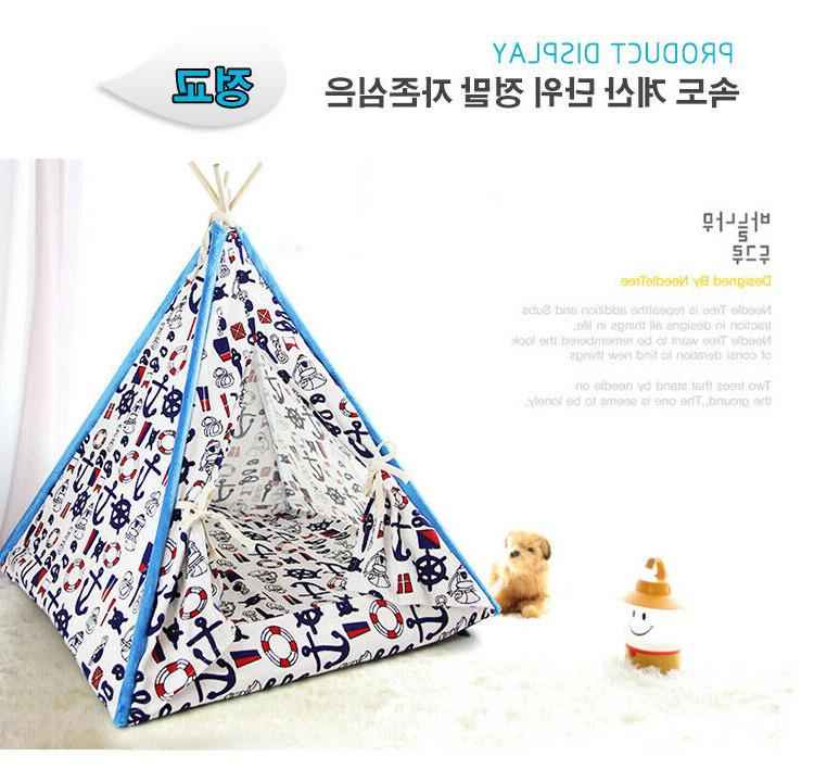 Removable Teepee Indian Kennel for Small