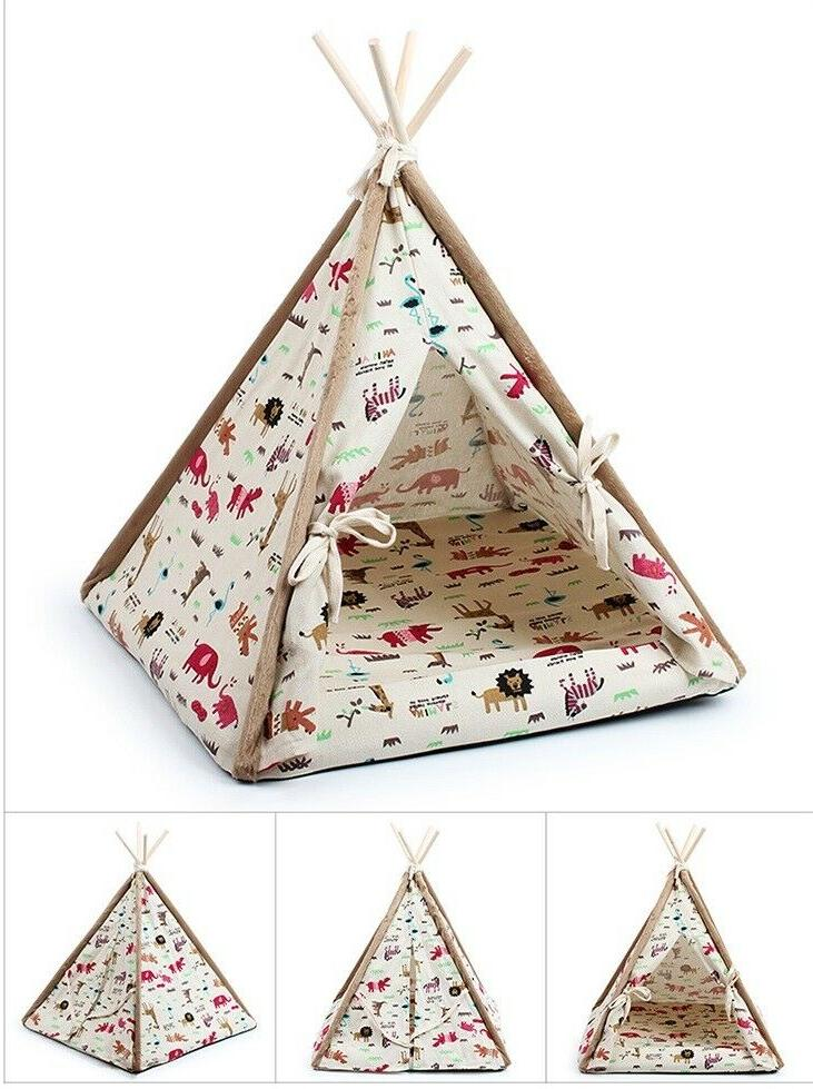 Removable Teepee Indian Kennel for Dog Small