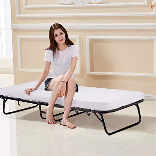 BestMassage Bed Camping Away Foldaway Inch Mattress with Strong Duty Frame