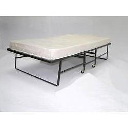 Hollywood Bed Frame Rollaway Twin Bed with Fiber Mattress, B