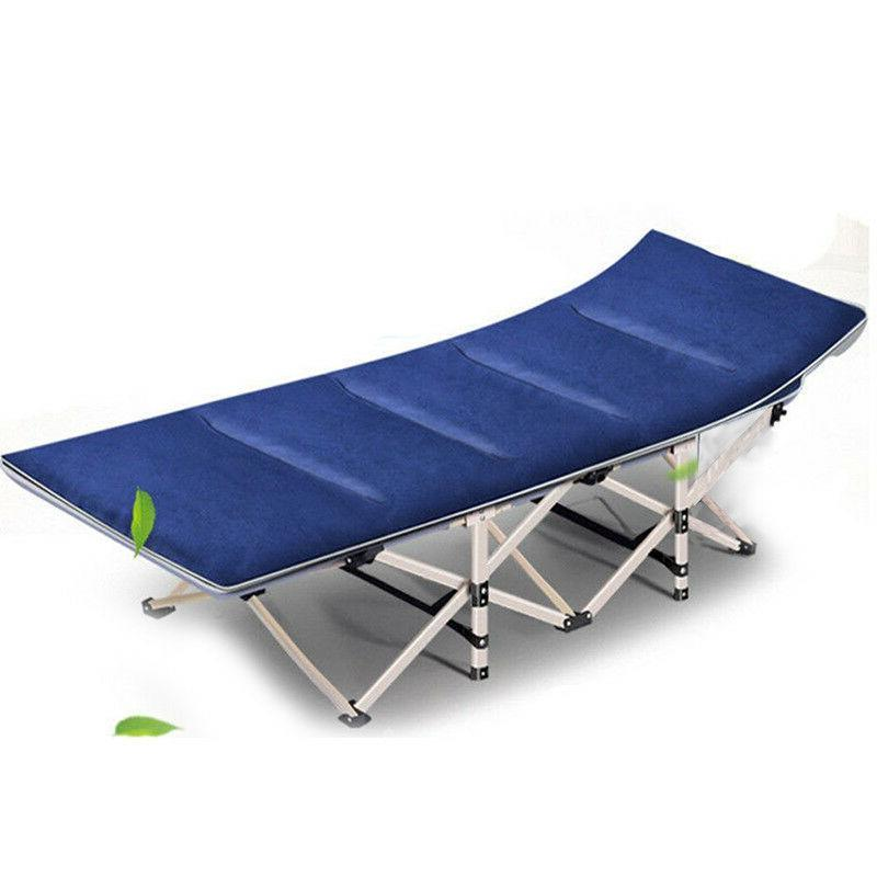 Portable Camping Rollaway Cot w/ Storage Bag &Mattress Strong