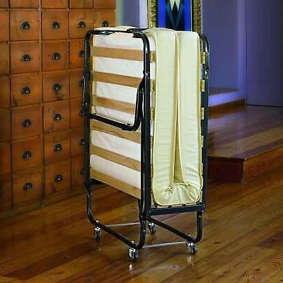 Linon Thebes Space Saving Folding Bed with Thick Mattress N/