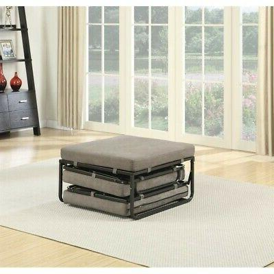 Pemberly Twin Bed Ottoman Taupe