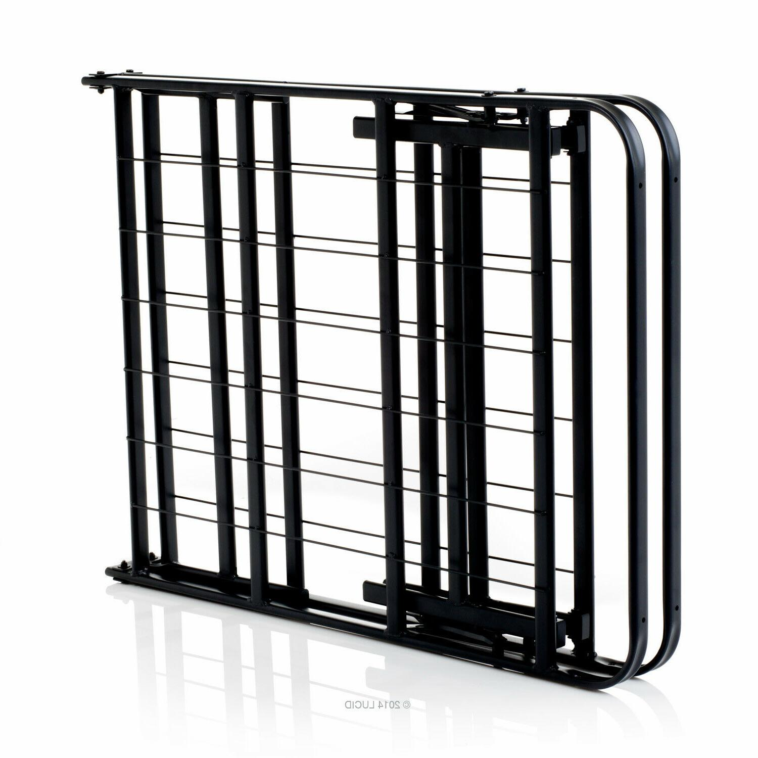 Foldable King Metal Bed Frame and Foundation - King
