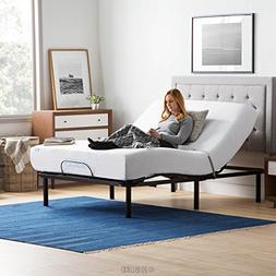LUCID L100 Adjustable Bed Base Steel Frame - 5 Minute Assemb
