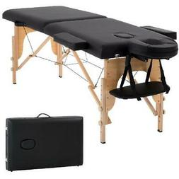 Massage Spa Bed 73 Long Portable 2 folding W/ Carry Case Tab