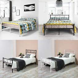 Metal Bed Frame Twin Full Size Bedroom Mattress Foundation w