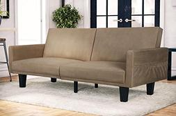 Microfiber Futon Sofa Bed Couch Living Room Seating Furnitur